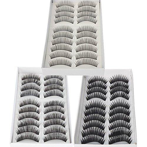 30 paires de faux cils naturels et longues régulières Eye Lashes