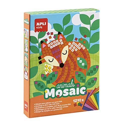 Apli Paper Ref. 14289 Mosaico Goma Eva Animales
