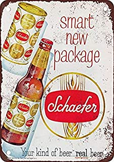 YFULL 1958 Schaefer Beer Vintage Look Reproduction Metal Tin Sign 8X12 Inches