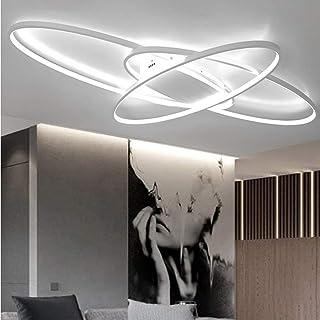 Lámpara de Salón de 69 W Regulable LED Lámpara de Techo para Comedor Lámpara Colgante con Mando a Distancia Diseño Moderno Ovalado Lámpara para Dormitorio Casa de Campo Cuarto de Baño Pasillo Decor
