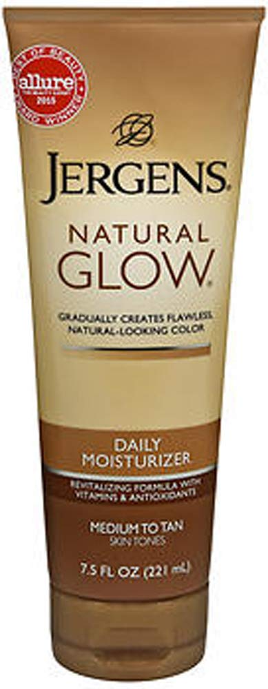 Jergens Nat Popular product Glw Many popular brands Med Tan Size Moi Glow Daily 7.5z Natural