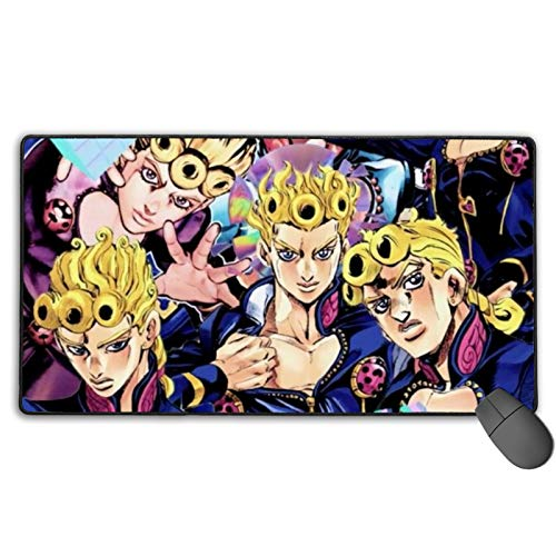 Comfortable Mouse Pad,JoJo's Bizarre Adventure  Non-Slip Office Mat,Precise Seaming Without Deformationprotective Case for Laptop Office Office Halloween