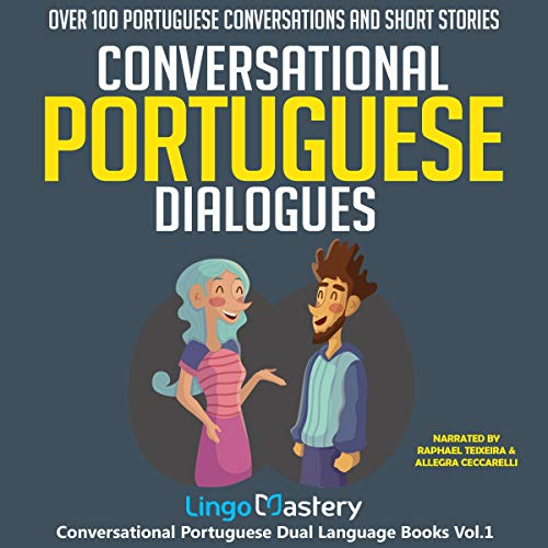『Conversational Portuguese Dialogues: Over 100 Portuguese Conversations and Short Stories』のカバーアート
