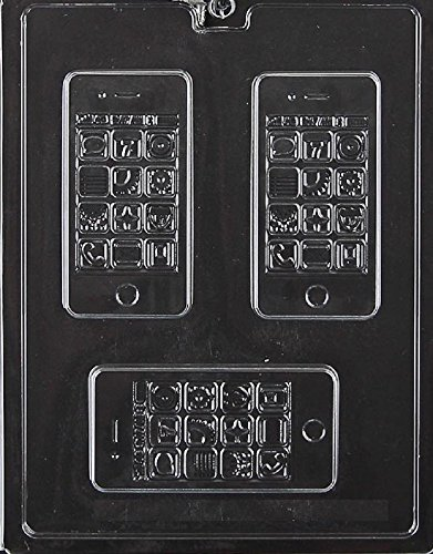 Grandmama's Goodies M235 Smart Phone Chocolate Candy Soap Mold with Exclusive Molding Instructions