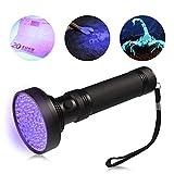 LEDGLE UV Schwarzlichtlampe Taschenlampe mit 100 LEDs Schwarzlicht Haustiere Urin Detektor für Eingetrocknete Flecken Ihrer Hunde, Katzen und Nagetiere auf Teppichen, Vorhänge, Gardinen, Möbel, Inkl