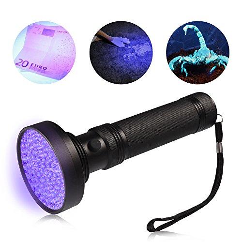 LEDGLE Lampe de Poche UV Lampe de Torche 100 LEDs Ultra Violet pour Animal Domestique d'urine Détecteur de Taches-Noir