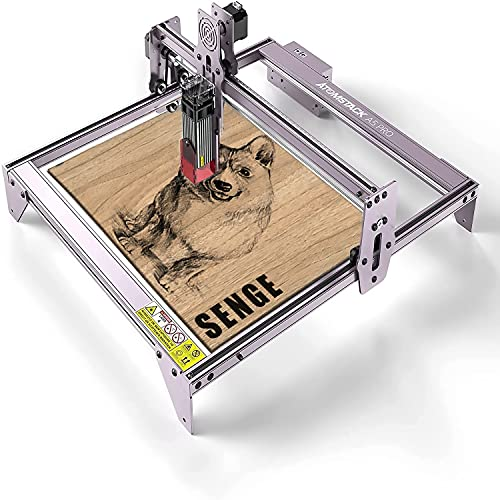 ATOMSTACK A5 Pro 40W Laser Engraver Master, Wood Engraving Machine, Eye Protection Fixed-Focus CNC, Desktop DIY Laser Engraving Cutting Machine, Cut Engraver for Metal Wood Vinyl Leather, 410x400mm