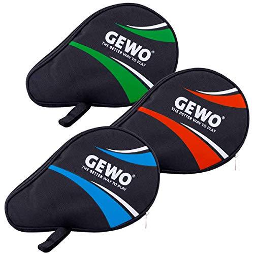GEWO Unisex– Erwachsene Master Tischtennishülle mit Ballfach, schwarz/royal, 30x20x2cm
