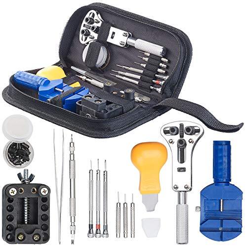 AGT Uhrenreparaturset: 13-teiliges Uhrmacher-Werkzeug-Set zur Uhren-Reparatur (Uhrmacherwerkzeuge)