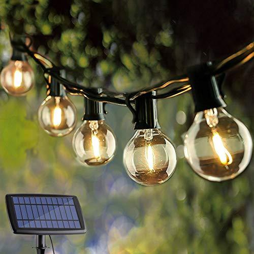 VMANOO Solar Outdoor String Lights 25Ft Globe Patio ...