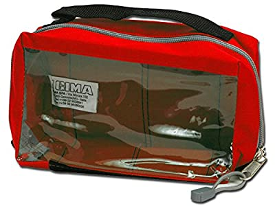 GIMA E1 Squared Pouch with Window and Handle, Red from GIMA