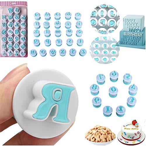 10/26 STKS Aantal Bovenste & Lagere Alfabet Cookie Cutter Kunststof Hoofdletters Fondant Cutter Bakken Cupcake Mold Cake Decorating (cijfers)