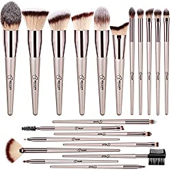 Bộ cọ trang điểm 20 cây BESTOPE 20 PCs Makeup Brushes Premium Synthetic Concealers Foundation Powder Eye Shadows Makeup Brushes with Champagne Gold Conical Handle