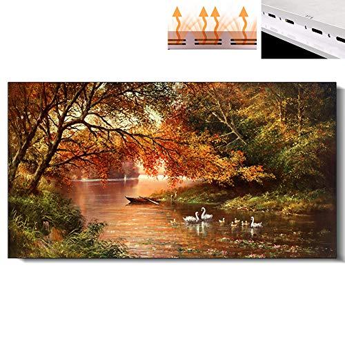Infrarot-Flächenheizung, 1300W Energiespar Heizung Tapete Klimaanlage, Europäische Art-Carbon-Kristall Home Office Heizung, Unterstützung Benutzerdefinierte Mural,1000W