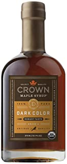 Crown Maple Dark Color Robust Taste Organic Maple Syrup 12.7 Fl Oz