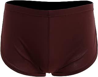 Dolity Men Plain Solid Side Split Pouch Boxer Shorts Thin Underpants Low Waist Underwear S-XL