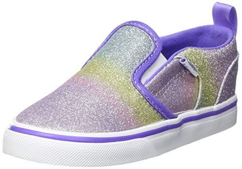 Vans Mädchen Asher V Toddler Unisex Sneaker, (Rainbow Glitter) Dahlia Purple, 25 EU