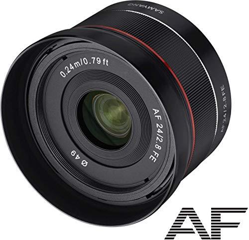 Samyang SYA2SE Lente 24 mm AF F2.8 per Sony FE, Compatibile Full Frame, Distanza minima di messa a fuoco di 0,24 metri, Nero
