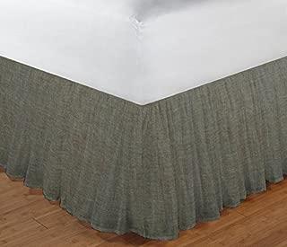 Patch Magic Green Sage - Chambray Fabric Dust Ruffle, Twin