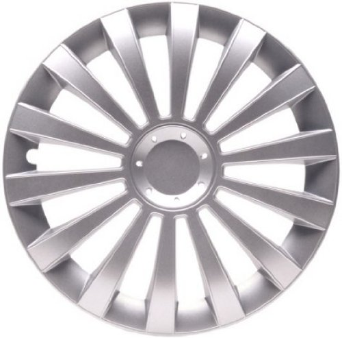 4Tapacubos Tapacubos tipo Meridian Plata apta para Chrysler 15pulgadas Llantas de Acero