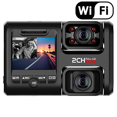 Pruveeo D30H Dash Cam with Infrared Night Vision and...