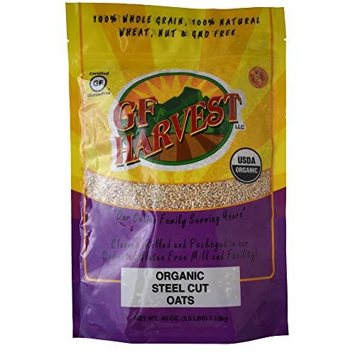 GF Harvest Gluten Free Certified Organic Whole Grain Steel Cut Oats, 40 Ounce