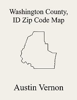 Washington County, Idaho Zip Code Map: Includes Cambridge, Weiser, and Midvale