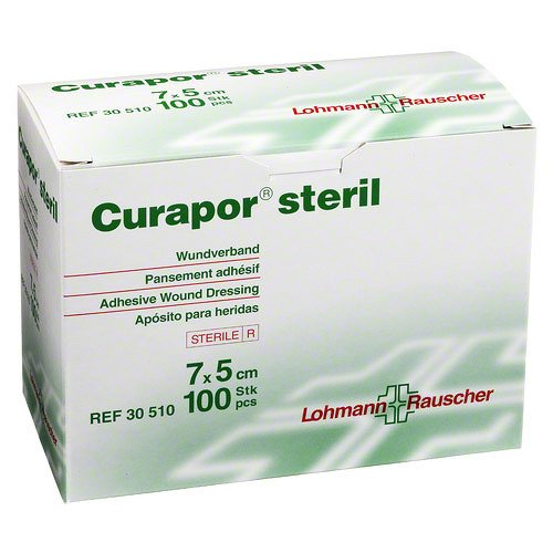 CURAPOR Wundverband steril chirurgisch 5x7 cm 100 St