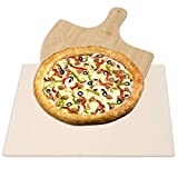 DR.DUDU 15 x 12 Inch Pizza Stone Heavy Duty Ceramic Baking Stone for use in Oven & Gril - Thermal Shock Resistant, Ideal for Baking Pizza, Bread, Cookies, Rectangular Cooking Stone 15x12 Inch