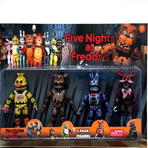 4 Pezzi / Set Five Nights At Freddy'S Action Figure Toy 15Cm, Fnaf Teddy Bear Freddy Fazbear Bear Figure Anime Freddy Toys For Children Day Gift