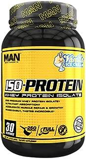 MAN Sports ISO-Protein 100% Pure Whey Protein Isolate Powder, Vanilla Ice Cream, 2 Pounds