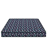 Aart Store Printed Memory Foam Mattress, (Queen Bed Size) 72x60x6 inches