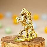 YXYSHX Statuen im Freien Vintage Messing Krieg Pferd Schlüsselringe Anhänger Kleine Schmuckstücke Retro Kupfer Tier Schlüsselringe Männer Auto Schlüsselanhänger-C