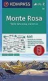 Carta escursionistica n. 88 - Monte Rosa, Valle Anzasca, Valsesia con guida 1:50.000. Ediz. italiana, tedesca e inglese: Wandelkaart 1:50 000