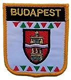 1000 Flaggen Budapest, Ungarn Schild, Bestickt