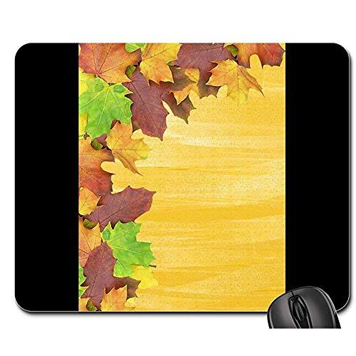 Mausunterlage Herbst-Hintergrund-Blätter tauchen Briefpapier-Mausunterlage auf Mausunterlagen Spiel-Matte Mausunterlage Mousepad 25X30cm