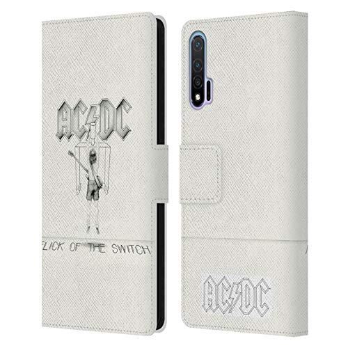 Head Case Designs Offizielle AC/DC ACDC Flick of The Switch Albumcover Leder Brieftaschen Huelle kompatibel mit Huawei Nova 6 5G