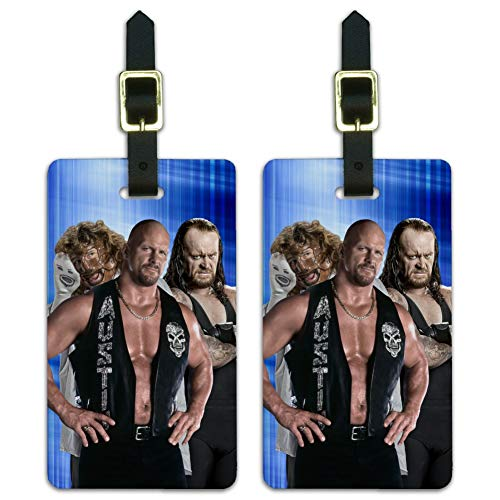 WWE Trio Luggage ID Tags Suitcase Carry-On Cards - Set of 2