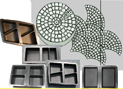 5 Schalungsformen Giessformen Betonformen für 17 Klosterpflaster