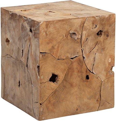 HomeTrends4You 471503 Arco bijzettafel, hout, teak wortelhout, 40 x 40 x 45 cm