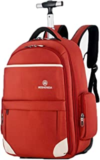 KTYXDE Travel Bag Backpack Multi-Function Mountaineering Bag Men's Business Backpack Trolley Bag Large Capacity Student Outdoor Travel Trolley Backpack (Color : Orange, Size : 53x23x36cm)