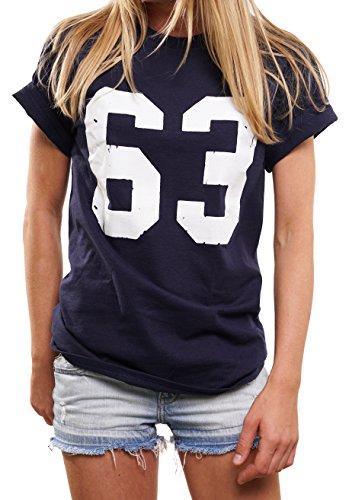 Spencer Football T-Shirt Damen Mode für Mollige - Bud Trikot 63 - Oversize Top übergröße lässig geschnitten XL