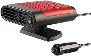 ZYYRSS 2019 New Upgrade Car Heater, Windshield Car Heater Cooling Fan,12V 150W Fast Heating Defrost Defogger, Windscreen Fan Plug in Cigarette Lighter (Red)