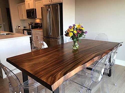 Amazon Com Live Edge Dining Table Made In A Modern Rustic Finish Handmade