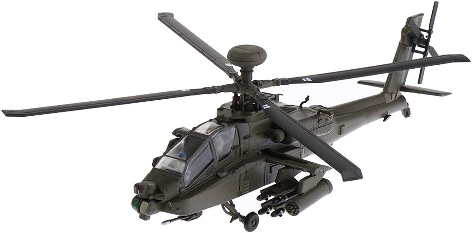F Fityle 1 72 Alloy American AH64 Apache Gunships Advanced Attack Helicopter Aircraft Model  Airforce Plane Fighter Model Toy