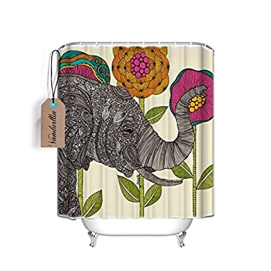 Mildew Resistant Waterproof Fabric Polyester Shower Curtains Liner 72x 72 Inch (Elephant)#7