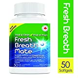 Fresh Breath Mate All-Natural Breath Freshener, Bad Breath Treatment from The Inside Out, Soothes Stomach, 50 Softgels