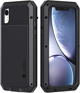 68e8a8a7438 Lanhiem Funda iPhone XR, [Rugged Armour] Antigolpes Metal Estuche Protectora,  Absorción de