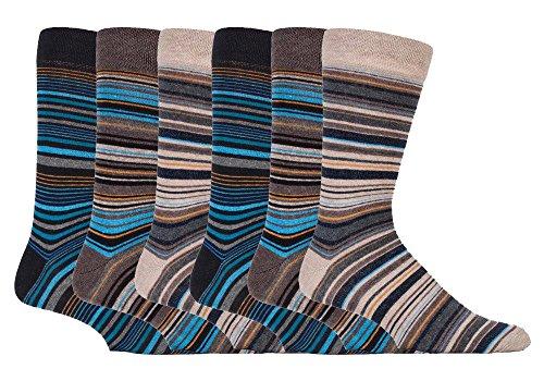 sock snob - 6er pack herren bunt muster gestreift baumwolle socken mit komfortb& (39-45 eur, SS Bangkok)