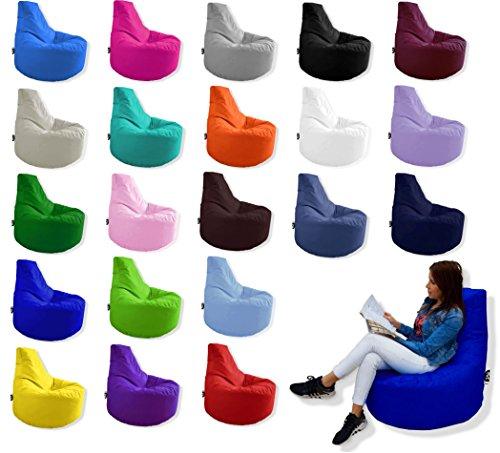 Patchhome Gamer Kissen Lounge Kissen Sitzsack Sessel Sitzkissen In & Outdoor geeignet fertig befüllt | Anthrazit - Ø 75cm x Höhe 80cm - in 2 Größen und 25 Farben